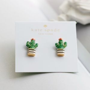 Kate Spade Scenic Route Pave Cactus Stud Earrings